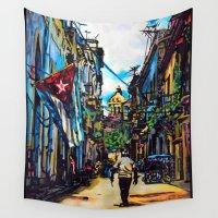 cuba Wall Tapestries featuring Havana, CUBA No.2 | 2015 by Kimikaa.com