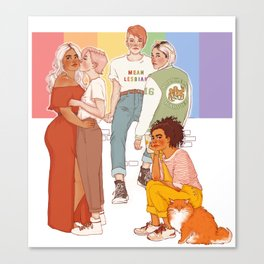 GAY WITCHES Canvas Print