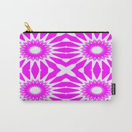 Hot Pink & White Pinwheel Flowers Carry-All Pouch