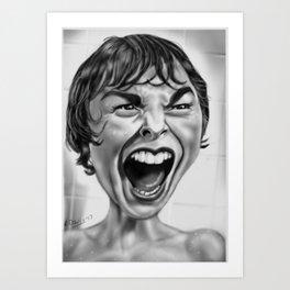 Marion Pycho Scream Art Print
