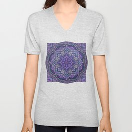 Batik Meditation  Unisex V-Neck