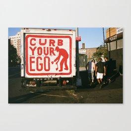 Curb Your Ego  Canvas Print