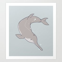 Baiji Dolphin Art Print