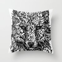 hunter Throw Pillows featuring Hunter by René Campbell