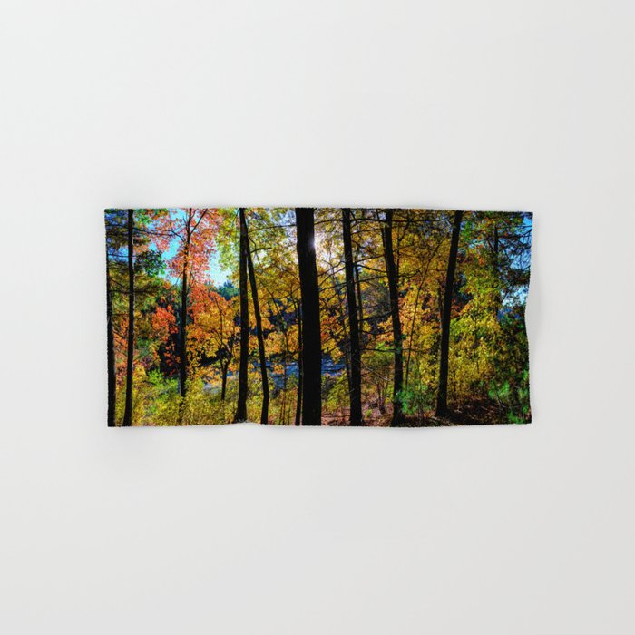 Walden Pond Autumn Forest  in Concord Massachusetts Hand & Bath Towel