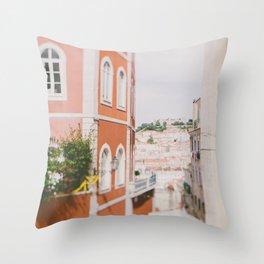 Summer in Lisbon Throw Pillow