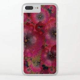 """Manila deep rose flowers"" Clear iPhone Case"