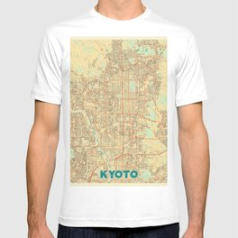 Kyoto Map Retro T-shirt