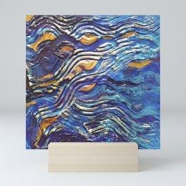 Abstract nautical background Mini Art Print