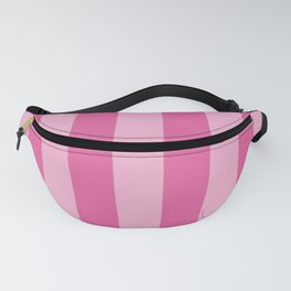 Bright Pink Cupcake Wide Cabana Stripes Fanny Pack