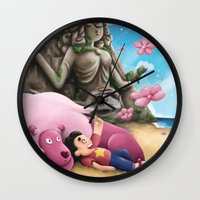 steven universe Wall Clocks featuring Steven Universe by toibi