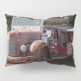 Antique Fire Truck Pillow Sham
