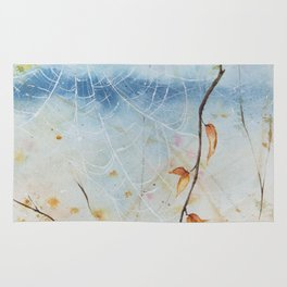 Autumn Webs Watercolor Painting Rug