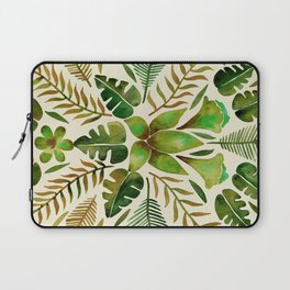 Tropical Symmetry – Olive Green Laptop Sleeve