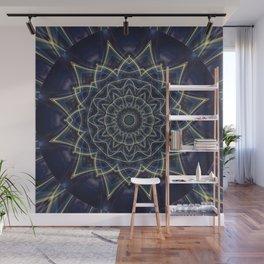 Mandala Flower blue Wall Mural