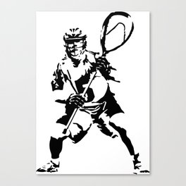 lax goalie Canvas Print