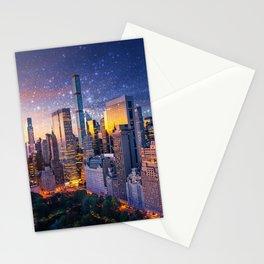 New York City - Fantasy Sunset Stationery Cards