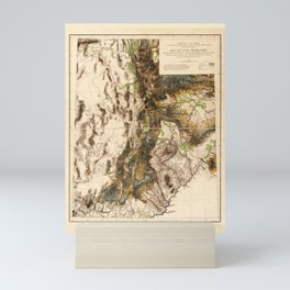 Map of Utah Territory (1878) Mini Art Print