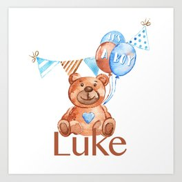 custom name luke Art Print