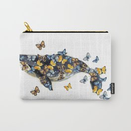 Watercolor whale with butterfly Carry-All Pouch