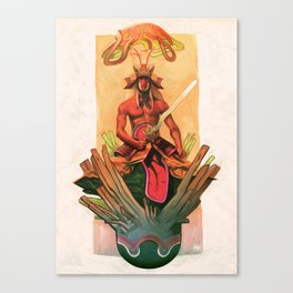 The stone egg & the birth of Sun Wukong Canvas Print