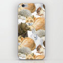 woodland animals pattern iPhone Skin