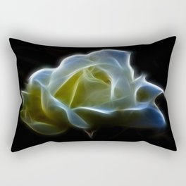Cream Rose Rectangular Pillow