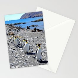 King Penguins returning to the colony Stationery Cards