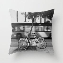 two bikes Throw Pillow