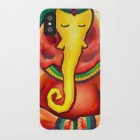 ganesha iPhone & iPod Cases featuring Ganesha by Amanda Rose Whittaker