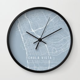 Chula Vista Map, USA - Slate Wall Clock