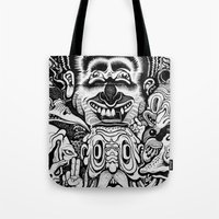 graffiti Tote Bags featuring Graffiti by very giorgious