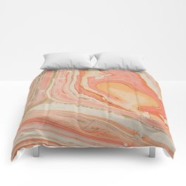 Marbled paper Comforters