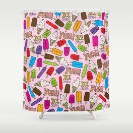 Ice Cream Doodles Shower Curtain