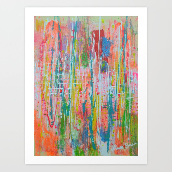 Wildflowers Abstract Expressionism Prophetic Art Contemporary Modern Art Art Print By Artfromwonderland