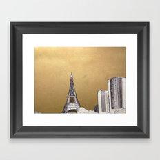 Gold Eiffel Framed Art Print