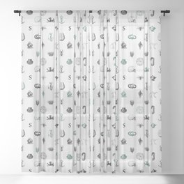 House of the Cunning - Pattern I Sheer Curtain