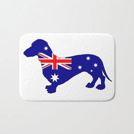 Australian Flag - Dachshund Bath Mat