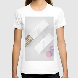 Top View Macarons Gift Box with fantastic color T-shirt