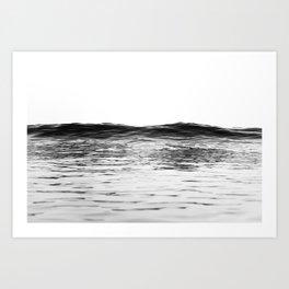 a wave coming Art Print