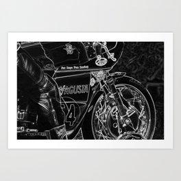 Motorcycle 1 Art Print
