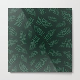 FERN PATTERN {deep forest} Metal Print