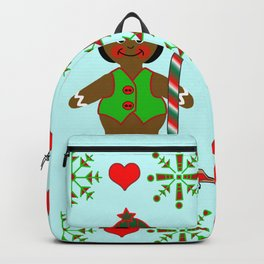 Gingerbread Children, Christmas and Holiday Fantasy Collection Backpack