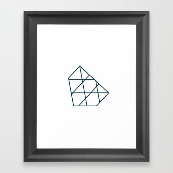 #267 Iceberg – Geometry Daily Framed Art Print