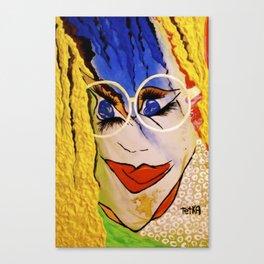 Miss ACTion tetkaART Canvas Print