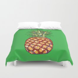 Pineapple, tropical, Hawaii Duvet Cover