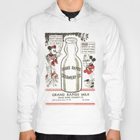 minnie mouse Hoodies featuring Old school mickey mouse / minnie Mouse / milk by tshirtsz