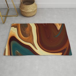 Marble Marbled Abstract Trendy CL Rug