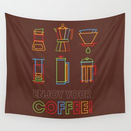ENJOY YOUR COFFEE Wall Tapestry