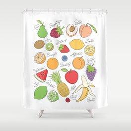 Fruit Doodles Shower Curtain
